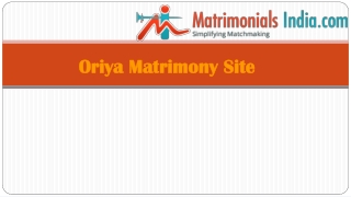 Oriya Matrimony Marriage