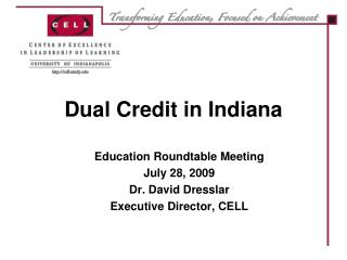 Dual Credit in Indiana