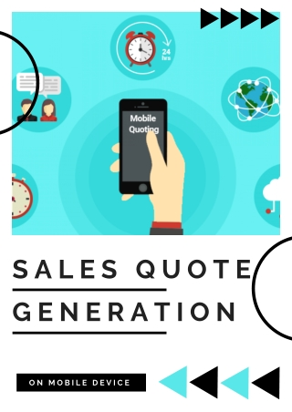 Sales Quote Generation in Mobile Device